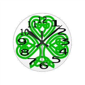 Personalised Shamrock Clock St pattys day