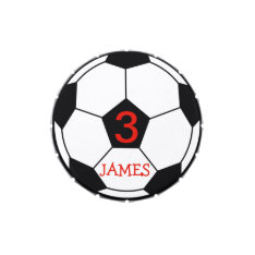 Personalised Soccer Ball Candy Tin at Zazzle