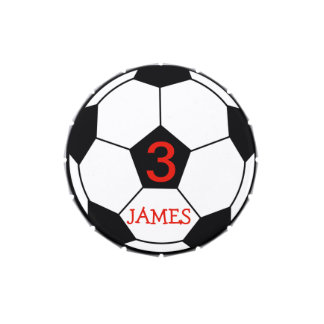 Personalised Soccer Ball Candy Tin