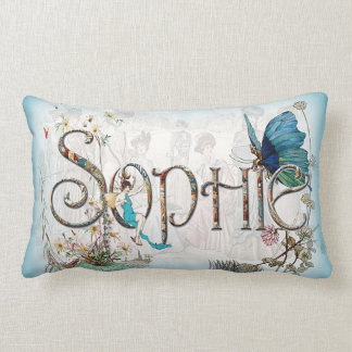 Personalised `Sophie' cushion (Blue) Throw Pillow