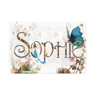 Personalised `Sophie' design Stretched Canvas Print