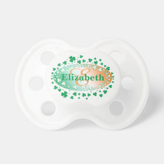 Personalised St Patrick's Day Shamrock Pacifier