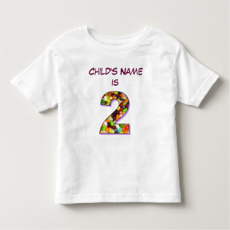 Personalised T-Shirt for a Two Year Old