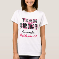 PERSONALISED TEAM BRIDE,BRIDES CREW T-Shirt