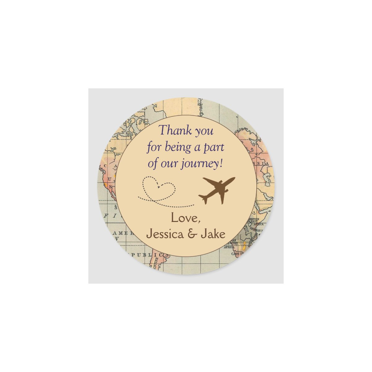 thank you stickers for wedding favors - Wedding Decor Ideas