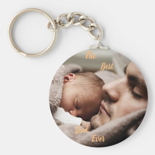 Personalised The Best Dad Ever Keyring