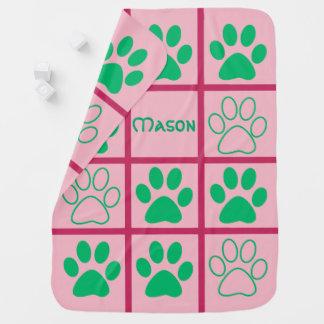 Personalised Tic-Tac-Toe Pop Design Swaddle Blanket