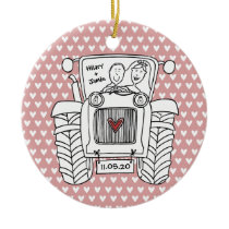 Personalised Tractor Wedding Ceramic Decoration