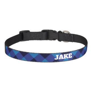 Personalised Traditional Plaid Dog Collar
