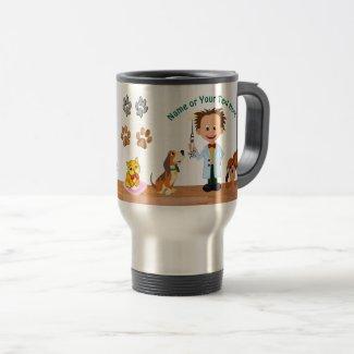 Personalised Unique Veterinarian Gifts, Man Vet Travel Mug