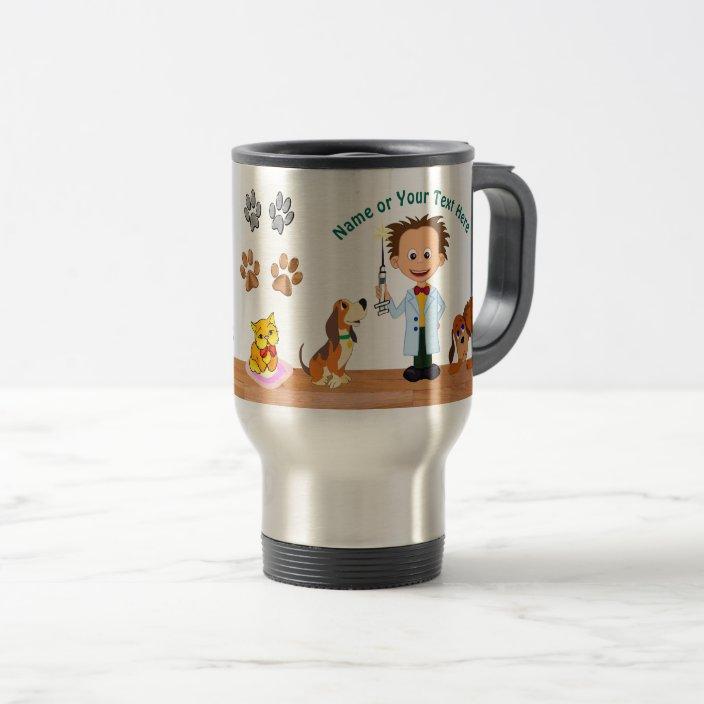 Man Vet Travel Mug