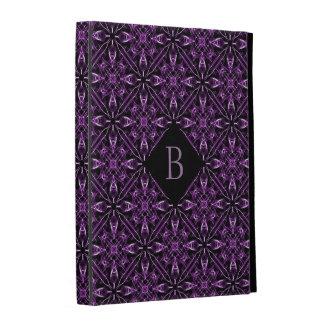 Personalised Victorian Purple Fractal Pattern iPad Case