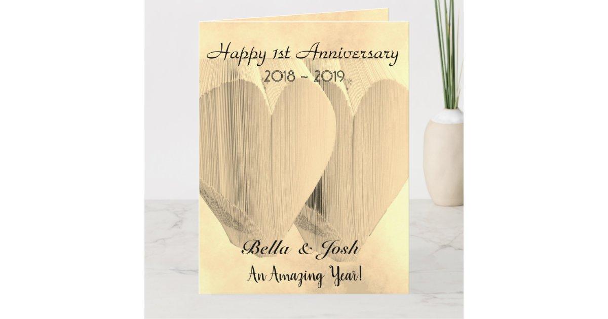Paper 1st Wedding Anniversary Card