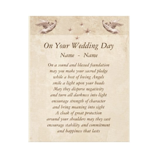 Personalised wedding day poem canvas art zazzle personalised wedding day poem canvas art stopboris Gallery