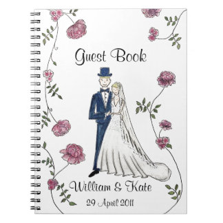 Personalised Wedding Guest Book Notebook