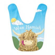 Personalised Wee Hamish Baby Bib