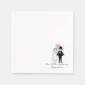 Personalised wild rose napkin
