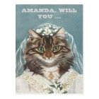 personalised, will you be my bridesmaid ? postcard