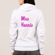 Personalised zip up hoodie - Hot pink