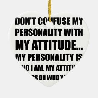 Personality Attitude Confused Ceramic Ornament