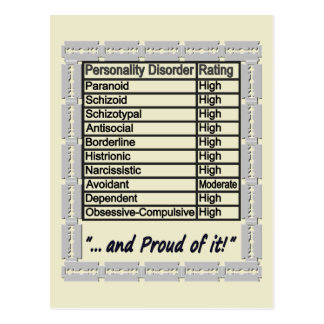 Personality Disorder 3 Postcard