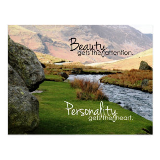 Personality gets the Heart Inspirational Postcard