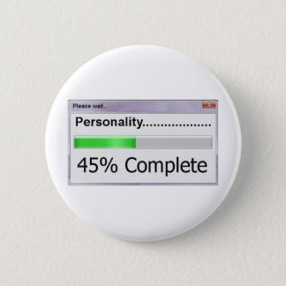Personality Progress Bar Pinback Button