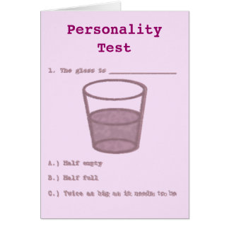 Personality Test Card