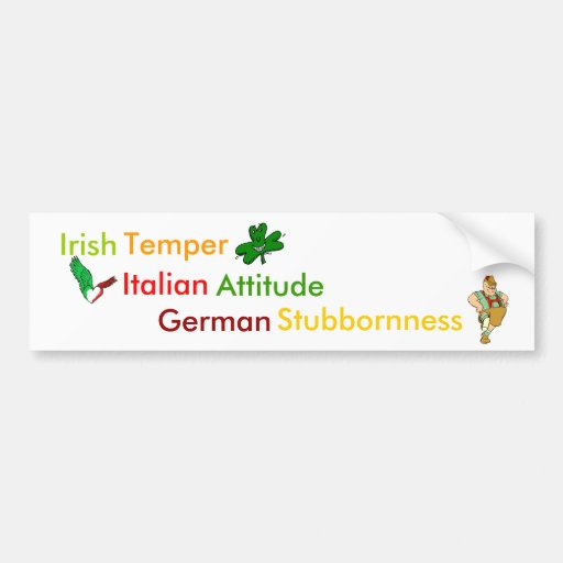 Personality Traits Associated w/ Heritage Bumper Stickers