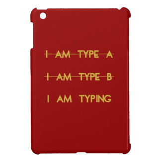 Personality types.  Customizable color iPad Mini Cover