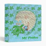 """Personalizable 1"""" de la tortuga verde carpeta de l"""