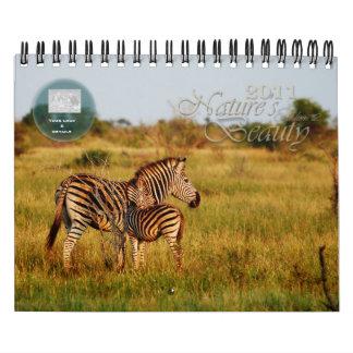 Personalizable 2011 de la belleza de la naturaleza calendarios de pared