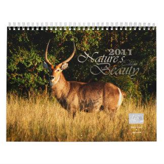 Personalizable 2011 de la belleza de la naturaleza calendario
