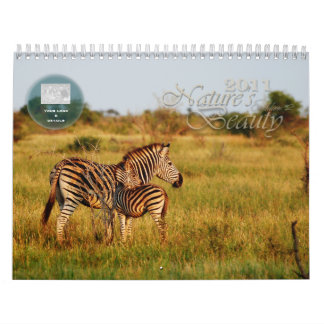 Personalizable 2011 de la belleza de la naturaleza calendario de pared