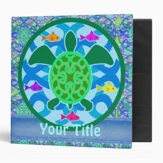 "Personalizable 2"" de la tortuga de mar verde carpe carpeta 2"""