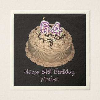 Personalizable 64th Birthday Party Napkins