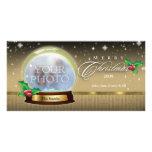 Personalizable 7 del globo de la nieve de las Feli Tarjetas Con Fotos Personalizadas