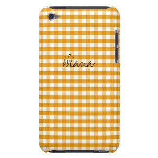 Personalizable amarillo caliente de la guinga iPod Case-Mate funda