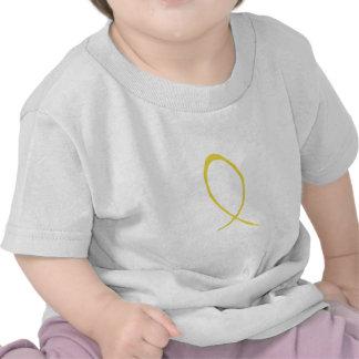 Personalizable amarillo de la cinta camisetas