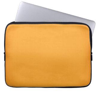 Personalizable anaranjado moderno del oro 13 fundas computadoras