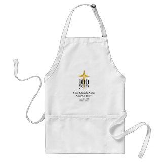 Personalizable aniversario de la iglesia de 100 añ delantal