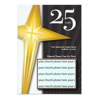 """Personalizable aniversario de la iglesia de 25 invitación 5"""" x 7"""""""