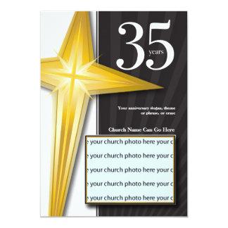 Personalizable aniversario de la iglesia de 35 anuncio