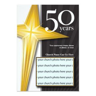 """Personalizable aniversario de la iglesia de 50 invitación 5"""" x 7"""""""