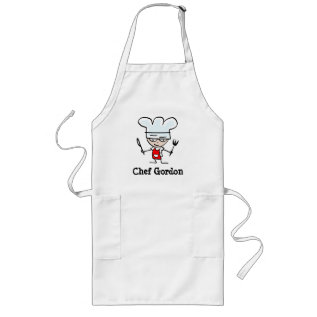 Personalizable Apron For Men With Funny Chef Image at Zazzle