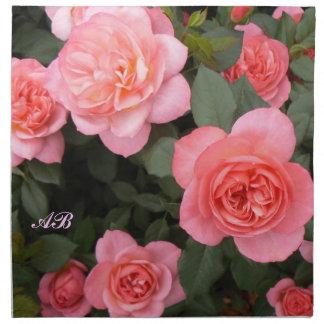 Personalizable: Arbusto color de rosa rosado Servilleta De Papel