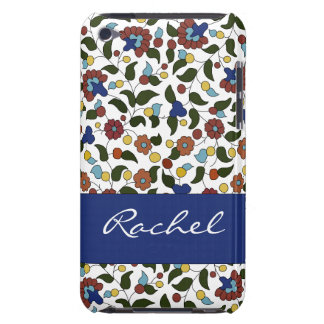 Personalizable Armenian flowers - Blue & White Barely There iPod Cover