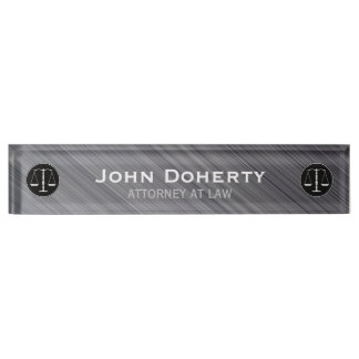 Personalizable ATTORNEY AT LAW Desk Name Plate
