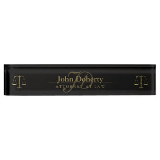 Personalizable ATTORNEY AT LAW Name Plate