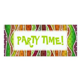 Personalizable AUTUMN STRIPES PARTY INVITATION